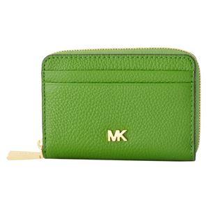 MICHAEL KORS (マイケルコース) 32T8GF6Z1L 304 True Green MKロゴ ジップアップ コイン カード ケース