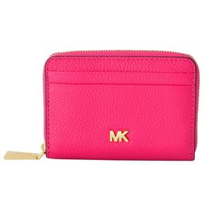 MICHAEL KORS (マイケルコース) 32T8GF6Z1L 564 Ultra Pink MKロゴ ジップアップ コイン カード ケース