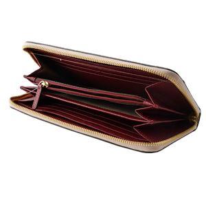 MICHAEL KORS (マイケルコース) 32T8GF6Z3T 680 SPK/RPK/MLBR カラーブロック 背面カードポケット付 ラウンドファスナー長財布