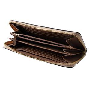 MICHAEL KORS (マイケルコース) 32T8TF6Z3T SFPK/FN/DSRS カラーブロック 背面カードポケット付 ラウンドファスナー長財布