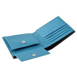 Paul smith (ポールスミス) 4833 W905 79 Black 小銭入れ付 二つ折り財布 内外バイカラー
