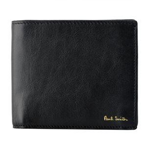 Paul smith (ポールスミス) 5039 W809 79 Black 小銭入れ付 二つ折り財布