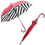 FULTON (フルトン) L723 023884 Bloomsbury-2 Diagonal Stripe 「Lulu Guinness」ルルギネス コラボモデル ワンタッチ ジャンプ傘 自動開き 長傘 2重構造 ブルームズバリー アンブレラ