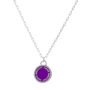 MARC JACOBS(マークジェイコブス)M0008546-500 Purple ロゴ ディスク エナメル ペンダント ネックレス Logo Disc Enamel Pendant