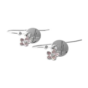 MARC JACOBS(マークジェイコブス)M0012200-040 Silver コイン デイジー フック ピアス MJ Coin Daisy Crystal Earrings