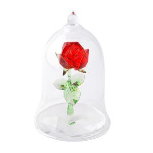SWAROVSKI(スワロフスキー)5230478 Disney Enchanted Rose ディズニー 美女と野獣 「魔法のバラ」 クリスタル フィギュア 置物