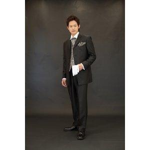 【Mサイズ】結婚式に、メンズフォーマル小物6点セット(ブラック) h03