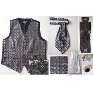 【Lサイズ】結婚式に、メンズフォーマル小物6点セット(ブラック)