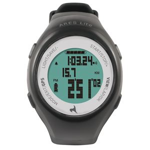 アレス <ARES Lite>GPS機能付ランニングウォッチ 8時間モデル ダークグレー×ホワイト AR-L180 - 拡大画像