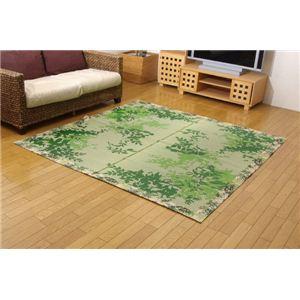 純国産/日本製 袋織 減農薬い草カーペット 『ラピス環良草』 グリーン 約140×200cm - 拡大画像