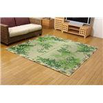 純国産/日本製 袋織 減農薬い草カーペット 『ラピス環良草』 グリーン 約140×200cm