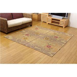 純国産/日本製 袋織い草カーペット 『なでしこ』 ベージュ 江戸間4.5畳(約261×261cm)の詳細を見る