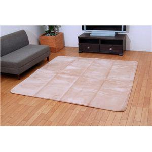 三菱レイヨン ルネス使用カーペット 『シルフィア』 ベージュ 185×185cm 正方形(吸湿発熱、抗菌防臭、消臭)の詳細を見る