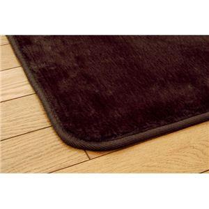 洗える ウォッシャブルラグカーペット 『WSウェンデルNSK』 ブラウン 185×185cm 正方形
