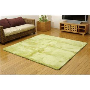 洗える ウォッシャブルラグカーペット 『WSウェンデルNSK』 グリーン 185×185cm 正方形