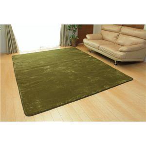 ホットカーペット対応 ソフトな扁平糸使用ラグ 『アネーロ』 グリーン 200×250cmの詳細を見る