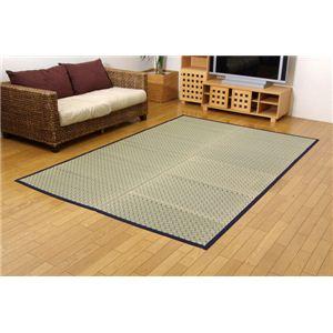 掛川織 い草カーペット 『豊後』 ブルー 江戸間3畳(約174×261cm)の詳細を見る