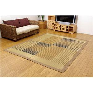 純国産/日本製 掛川織 い草ラグカーペット 『剣ヶ峰』 ベージュ 約200×250cmの詳細を見る