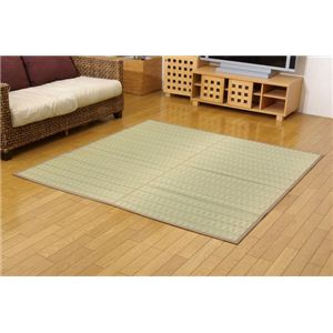 掛川織 い草カーペット 『みすず』 ベージュ 江戸間6畳(約261×352cm)の詳細を見る