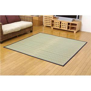 掛川織 い草カーペット 『みすず』 ブルー 江戸間2畳(約174×174cm)の詳細を見る
