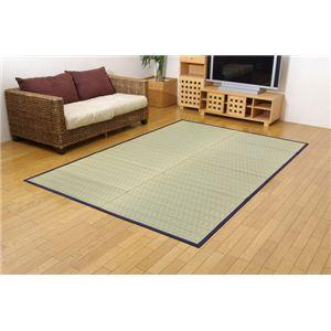 掛川織 い草カーペット 『みすず』 ブルー 江戸間3畳(約174×261cm)の詳細を見る