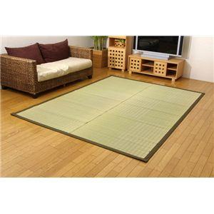 純国産(日本製) 掛川織 い草ラグカーペット 『小夏』 グリーン 約191×250cmの詳細を見る
