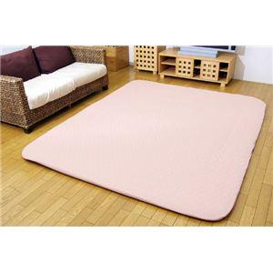 洗える インド綿 ふっくら敷カバー 『アルフ F敷カバー』 ピンク 190×240cm 長方形 ボックスタイプの詳細を見る