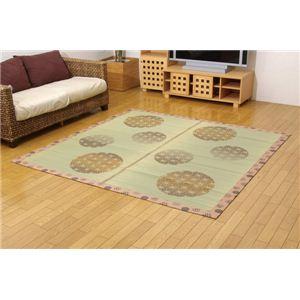 和柄 い草ラグカーペット 『D×昴』 ブラウン 約191×191cm(裏:不織布) 正方形の詳細を見る