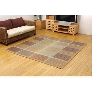 純国産/日本製 い草ラグカーペット 『FUBUKI』 ブラウン 約191×191cm 正方形の詳細を見る