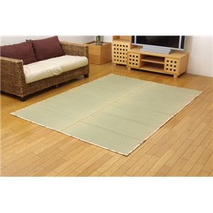純国産/日本製 袋織 減農薬い草カーペット 『華山 環良草』 ローズ 約174×230cmの詳細を見る