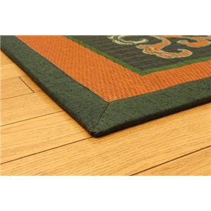 純国産/日本製 袋五重織い草マット 『華紋草』 約88×150cm(裏:不織布)の詳細を見る