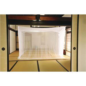 虫よけ吊り下げタイプ 『蚊帳 吊下』 約4.5畳用(約200×250×200cm) - 拡大画像