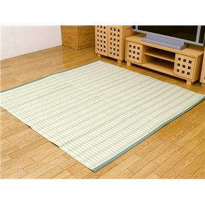 洗えるPPカーペット 『雲海ヒバ』 グリーン 江戸間3畳(174×261cm) 青森ヒバ加工の詳細を見る