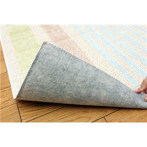 綿混タフトカーペット 『冷感ティンプル』 グリーン 130×185cm(キシリトール加工) - 拡大画像