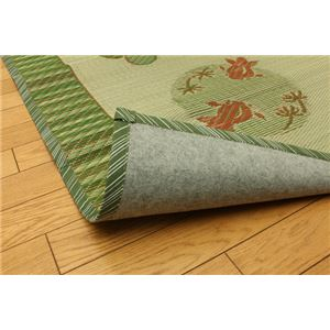 い草ラグカーペット 『D×丸金魚』 約191×191cm (裏:不織布)正方形