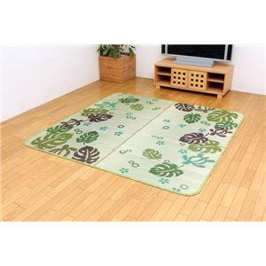 い草ラグカーペット 『D×サリー』 グリーン 約191×250cm (裏:不織布)の詳細を見る