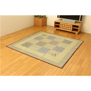 い草ラグカーペット 『ufD×かすみ』 ブラウン 約180×180cm (裏:不織布)正方形の詳細を見る