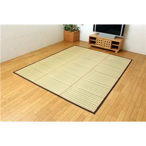 純国産/日本製 掛川織 無染土い草ラグカーペット 『かすみECO』 約200×200cm 正方形の詳細を見る