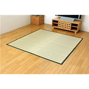 福岡県認証農産物 掛川織 い草ラグカーペット 『美麗ECO』 グリーン 約191×191cmの詳細を見る