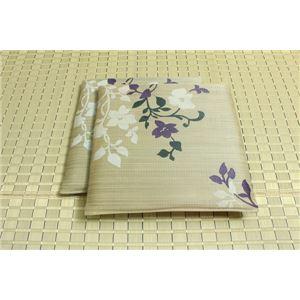 純国産/日本製 捺染返し い草座布団 『ミラージュ 2枚組』 グレー 約55×55cm×2P - 拡大画像