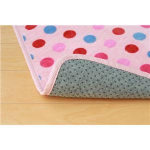 洗える ソフトな扁平糸使用 ルームマット 『マリナ』 ピンク 150×150cm(洗濯機丸洗い可能)の詳細を見る