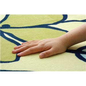 ソフトな扁平糸使用 ホットカーペット対応ラグ 『ビーナス』 ブルー&グリーン 200×250cmの詳細を見る
