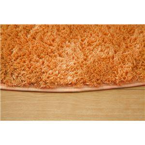 フィラメント糸使用 ホットカーペット対応ラグ 『ツイート』 オレンジ 185×185cm 正方形の詳細を見る