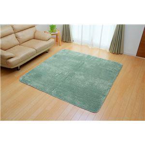 フィラメント糸使用 ホットカーペット対応ラグ 『ツイート』 ブルー 185×185cm 正方形の詳細を見る