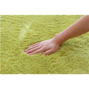 フィラメント糸使用 ホットカーペット対応ルームマット 『ツイート』 グリーン 92×130cmの詳細を見る