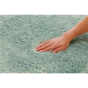 フィラメント糸使用 ホットカーペット対応ルームマット 『ツイート』 ブルー 92×130cmの詳細を見る