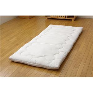 羽毛タッチ 機能性ウォッシャブル寝具 『クリーンガード 敷き布団』 アイボリー シングル 100×210cm