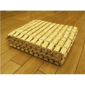 天然のひんやり竹シーツ 『楽快竹』 ナチュラル 120×176cm(軽量タイプ) - 拡大画像
