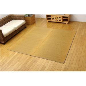 純国産/日本製 三重織 い草ラグカーペット 『Fモカ』 ベージュ 約191×191cm(裏:ウレタン)の詳細を見る