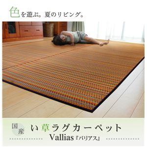 純国産 い草ラグカーペット 『バリアス』 グリーン 約191×250cmの詳細を見る